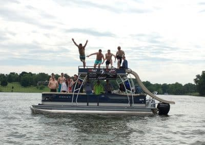 FlyBoarding with Bachelor Party Nashville at Old Hickory Lake