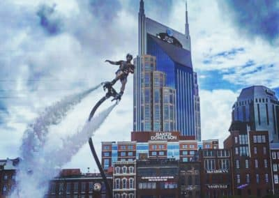 Downtown Nashville FlyBoarding