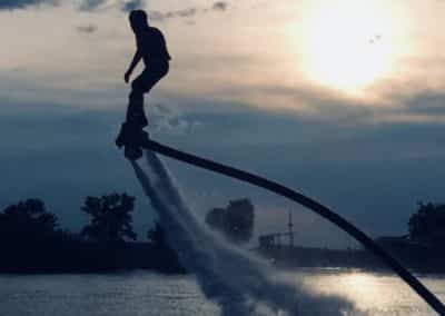 Awesome Flyboard Sunset