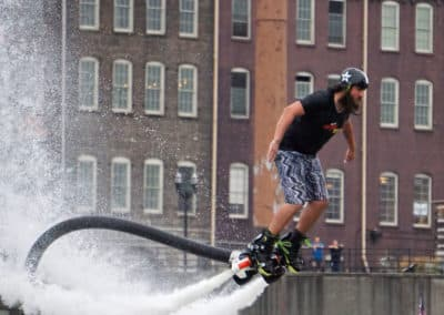 Nashville FlyBoard Downtown Ant Man Wasp Promo Shoot