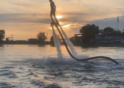 Sunset-Flyboarding